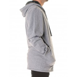 MIX & MATCH ZIP HOOD GRIS MELANGE
